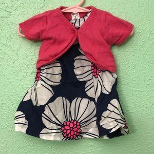 Baby Girl Carter's Dress & Shrug, EUC